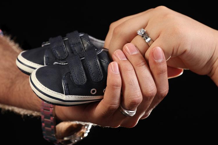 عکس بارداری با حضور پدر